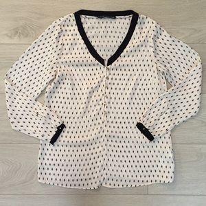 Zara V-Neck Printed Blouse